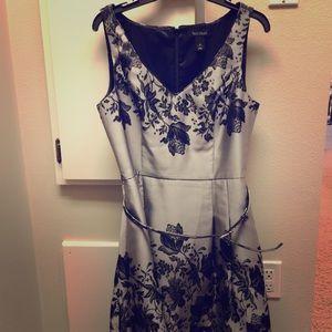WHBM Fabulous metallic woven A-line party dress